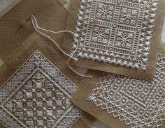 4 Needlepoint Experimental Stitching - (free pdf charts)