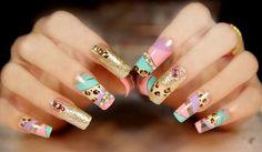 decoracion de uñas 2015 para novias con piedras - Buscar con Google