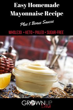 Homemade mayonnaise is so easy to make that you'll wonder why you ever purchased store bought mayo. Plus it's Paleo, keto, sugar-free & vegetarian. Sugar Free Recipes, Paleo Recipes, Low Carb Recipes, Easy Recipes, Paleo Sauces, Easy Mayonnaise Recipe, Homemade Mayonnaise, Whole 30 Recipes, Quick Easy Meals
