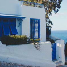 No, it's not Santorini, it's Sidi Bou Said, Tunisia. Photo courtesy of a_travelogue on Instagram.