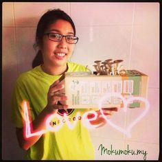 Thanks Min for your photo. Your #mushrooms will be fully grown in 2 days time. #mokumoku #mokudiy  mokumoku.my