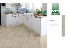 Keep your styling simple and elegant with the pale hues of Blonde Oak. Luxury Vinyl Flooring, Luxury Vinyl Tile, Elegant Home Decor, Elegant Homes, Higher Design, Carpet Flooring, Wood Planks, Natural Wood, Kitchen Cabinets