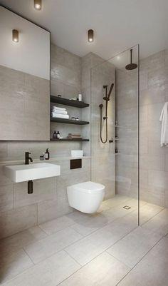 Aranżacja małej łazienki z prysznicem - poradnik i wskazówki - homelook Modern Bathroom Tile, Bathroom Spa, Minimalist Bathroom, Bathroom Layout, Contemporary Bathrooms, Bathroom Interior Design, Modern Minimalist, Small Bathroom, Bathroom Ideas