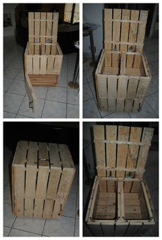 Pallet Storage or Mini Bar #PalletBar, #PalletStorage, #RepurposedPallet