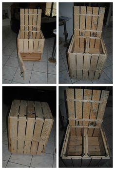 Pallet Storage or Mini Bar #PalletBar, #PalletStorage, #RepurposedPallet