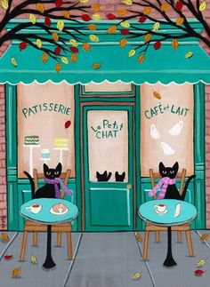Le Petit Chat, kitty cafe.