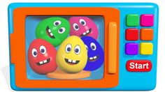 Learn Colors with Surprise Eggs Microwave Oven for Children , Kids, Todd...