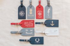 * Please note there is a minimum order of 75 required. Please reference tiered pricing in section E below.   (A) THE LITTLE DETAILS This elegant foil pressed leather luggage tag includes our signature insert. Any text and/or graphic can be foil pressed on the leather luggage tag. A digital proof is provided with each order prior to production. (B) QUANTITY MORE quantity available! Please do not purchase this listing. Click Request a custom order in the link shown underneath the main phot...