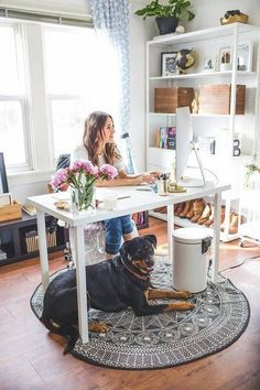 home office decor pinterest. Shared Home Office Ideas So You Can Learn How To Work From Together. Our Decorating Experts Show Design A Workspace For Two. Decor Pinterest E