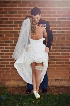 Usmc wedding - this pose is so hot i love it! I want a sexy pic like this to have in black and white and to put in our bedroom. It just is the best flirt photo I've seem! Wedding Goals, Wedding Pics, Wedding Planning, Police Wedding Photos, Wedding Dresses, Maxi Dresses, Prom Dress, Perfect Wedding, Dream Wedding