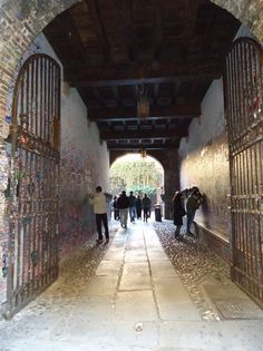 Verona, Italy - tunnel to Juliet's house. Tunnel of love.