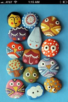 Rock painting craft