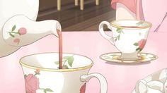 Aesthetic Drawing, Aesthetic Gif, Anime Gifs, Anime Art, Food Illustrations, Illustration Art, Doremi Anime, Anime Bento, Arte 8 Bits