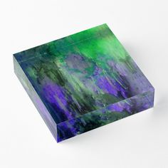 'Cliff Side Hint' Acrylic Block by Faye Anastasopoulou Purple Living Room Furniture, Decorative Throw Pillows, Decorative Items, Framed Prints, Canvas Prints, Art Prints, Home Office Accessories, Theme Pictures, Colourful Living Room