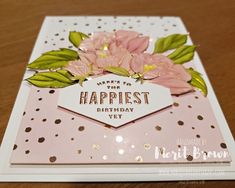 Lots of Happy Meets Springtime Foil DSP by Merit Brown, Independent Demonstrator for Stampin' Up!® on mbsquareddesigns.com