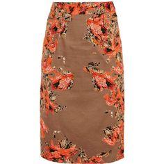 Erdem Shona pencil skirt ($739) ❤ liked on Polyvore