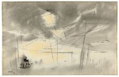 SEASCAPE By Lyonel Feininger Artwork Description Dimensions: 30.8 x 47.8 cm Medium: Watercolour, brush and India ink, washed, and pen and India ink on laid paper Creation Date: 1954