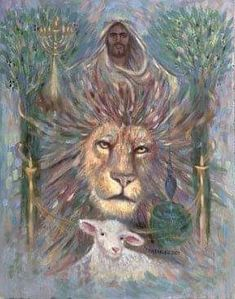 Jesus and Lion of Judah prophetic art painting. Judah And The Lion, Lion And Lamb, Bible Pictures, Jesus Pictures, Spiritual Warrior, Christ The King, Worship The Lord, Prophetic Art, Lion Art