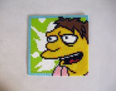 Barney Gumble Simpsons Bead Art by emelyjensen on deviantart