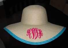 Items similar to Carolina Cup, Steeplechase, or a Kentucky Derby Monogrammed Beach Hat on Etsy Carolina Cup, Monogram Hats, Floppy Hats, Marley Lilly, My Old Kentucky Home, Kentucky Derby Hats, Down South, Southern Style, Southern Girls