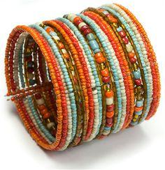 Seed #Bead Wide #Cuff Sedona #jewelry