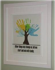 LOVE the handprint tree!