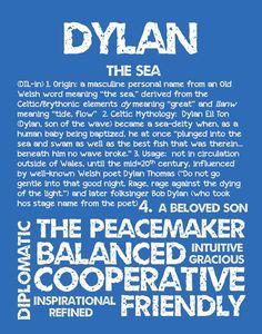 DYLAN Personalized Name Print / 11x14 / Typography by OhBabyNames
