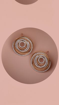 AZVA contemporary diamond earrings