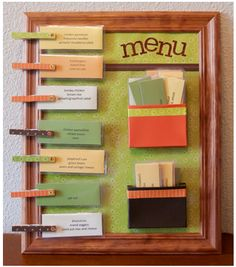 The Ultimate Menu Board For Quick Meal Planning--soooo doing this!!! Okay, I really probably won't. But I AM going to pin it.