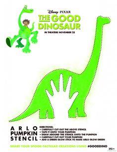 The Good Dinosaur Pumpkin Stencil, Coloring Sheets and More! #GoodDino