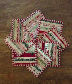 Love these selvedge mug rugs. Quilts In The Barn