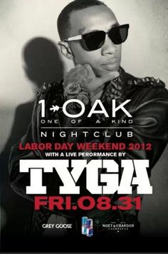 """Friday nights at 1 OAK never disappoint, with the hottest celebrities, biggest names and always amazing surprises. To kick off Labor Day weekend we have TYGA performing his hits """"Rack City"""", """"Make it nasty"""" , and """"Faded"""" plus more. Come get your weekend started in one of a kind style with the first name in outstanding Vegas/New York nightlife and resident DJ Karma"""