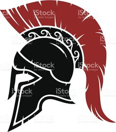 Spartan warrior helmet royalty-free stock vector art