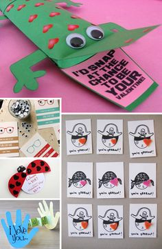 Sharing the Love: 50 Ideas for Making Your Own Valentines – design finch Valentines Design, Valentines For Kids, Valentine Day Crafts, Valentine Ideas, Holiday Crafts For Kids, Holiday Fun, Happy Hearts Day, Valentine's Cards For Kids, Homemade Valentines