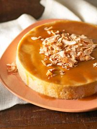 Oaxacan Coconut Flan  Oaxaca [wah-HAH-kah], a southern Mexican state, is known for its tropical fruits and desserts. This community-size flan uses cream of coconut and toasted coconut to give it tropical flavor.