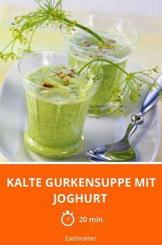 Kalte Gurkensuppe mit Joghurt - smarter - Zeit: 20 Min. | eatsmarter.de