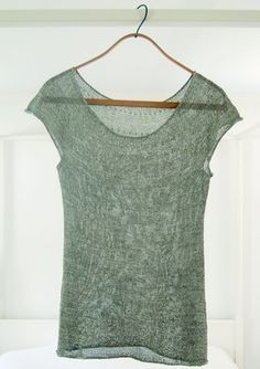 Silken Straw Summer Sweater - FREE knitting pattern simple and elegant sheer mohair top (hva)