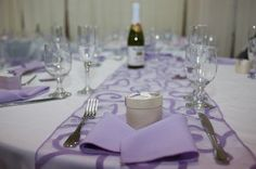Found this great site called Wedding Recycle might save those of you on a tight budget save some money http://wedding-recycle.com  have 30 Lavender spiral table runner for sale.