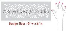 Border Stencils | Italian Medallion Stencil | Royal Design Studio