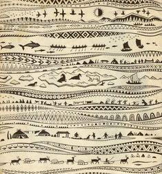 Chukchi fairy tales, illustrations by Irina G. Tribal Symbols, Tribal Art, Graphic Illustration, Graphic Art, Best Graffiti, Art Sketchbook, Ancient Art, Pattern Art, Rock Art
