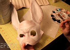 ideas on how to make Aaron's alice in wonderland rabbit costume. Not so sci fi but like the idea of a rabbit mask