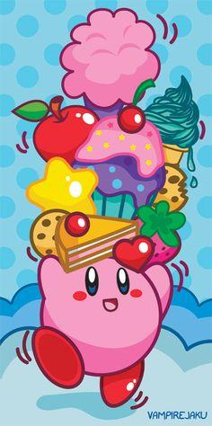 Kirby: Lifting Snacks by VampireJaku.deviantart.com on @deviantART
