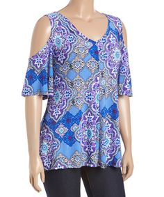 Another great find on #zulily! Blue Cutout Top - Plus #zulilyfinds