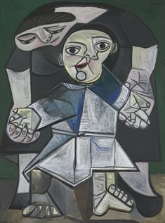 Pablo Picasso (Spanish, 1881–1973), First Steps, 1943. Oil On Canvas, 51 1/4 x 38 1/4 in., 130.2 x 97.1 cm, Yale University Art Gallery, Gift of Stephen Carlton Clark, B.A. 1903, 1958.27