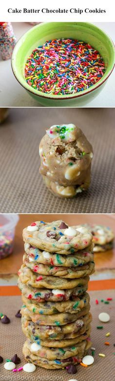 Recipe Sharing Community: Cake Batter Chocolate Chip Cookies | Recipe Sharing Community