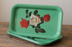Vintage Serving Trays by 612ArrowStreet on Etsy