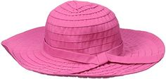 Scala Women's Sewn Ribbon Crusher Hat with Trim, Fuchsia, One Size - http://todays-shopping.xyz/2016/07/12/scala-womens-sewn-ribbon-crusher-hat-with-trim-fuchsia-one-size/