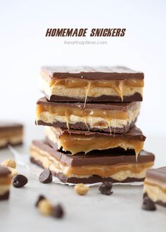 Homemade Snickers recipe ...tastes better than the real thing!