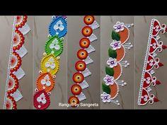 Easy Rangoli Designs Diwali, Free Hand Rangoli Design, Small Rangoli Design, Rangoli Ideas, Diwali Rangoli, Simple Rangoli, Rangoli Borders, Rangoli Border Designs, Beautiful Rangoli Designs