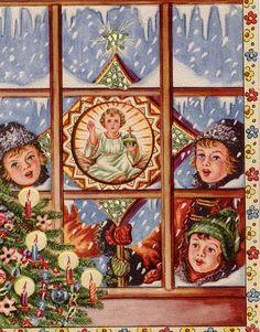 Beautiful vintage Polish Christmas card